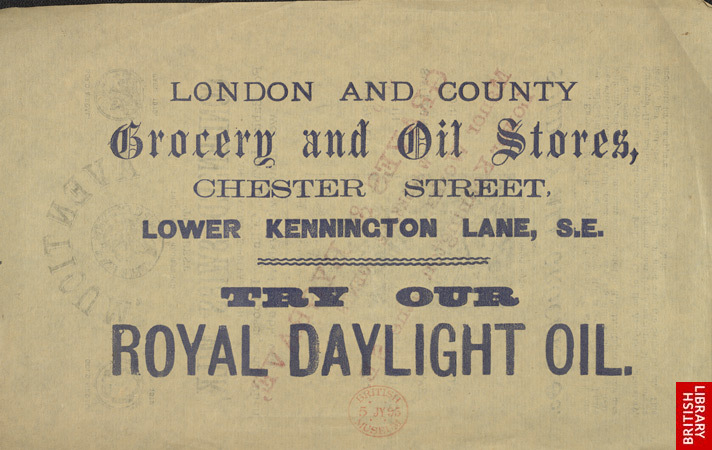 Advert for the London & County Grocery & Oil Stores 6746
